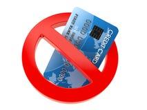 Kein Kreditkartezeichen lizenzfreie abbildung
