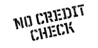 Kein Kreditsprüfungsstempel Lizenzfreies Stockbild