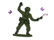 Kein Krieg lizenzfreie abbildung