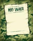 Kein Kriegsplakat leer Stockbild