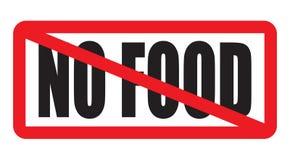 Kein Lebensmittel erlaubt Lizenzfreie Stockbilder