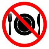 Kein Lebensmittelzeichen Stockfotos