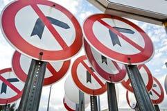 Kein Linksrechtsdrehungs-Zeichen Lizenzfreies Stockfoto