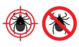Kein Milbenzeichen Vektorillustration für Vorbereitung gegen harmf Lizenzfreie Stockbilder