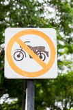Kein Motorradzeichen Stockbild