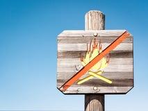 Kein offenes Feuer Stockfotografie