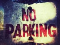 Kein Parken lizenzfreie stockfotografie