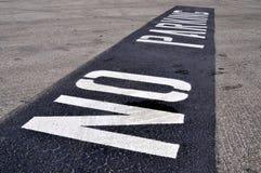 Kein Parken Lizenzfreies Stockbild