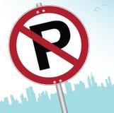 Kein Parken-Zeichen stock abbildung