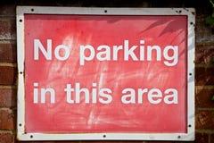Kein Parken-Zeichen Stockbild