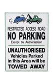 Kein Parken-Zeichen Stockfotos