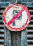 Kein Parken-Zeichen Lizenzfreie Stockfotografie