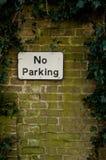 Kein Parken-Zeichen lizenzfreies stockbild