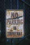 Kein Parken-Zeichen Stockfotografie