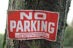 Kein Parkenzeichen Lizenzfreie Stockfotos