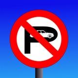 Kein Parkenzeichen stock abbildung