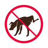 Kein pinkelnder Hund -- Vektor - kein Hundepipi-Zeichenlogo Lizenzfreie Stockbilder