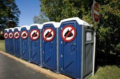 Kein Poop-Nebengebäude. Lizenzfreies Stockbild