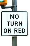 Kein schalten Sie Rot ein Stockfotos