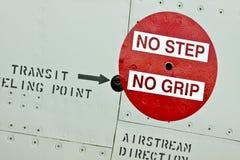 Kein Schritt kein Griff-Zeichen lizenzfreie stockfotografie