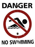 Kein Schwimmen-Zeichen Lizenzfreies Stockbild