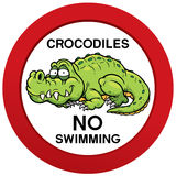 Kein Schwimmenzeichen Lizenzfreies Stockbild