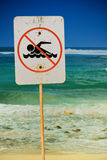 Kein Schwimmenzeichen lizenzfreie stockbilder