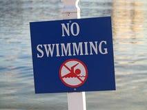 Kein Schwimmenzeichen Lizenzfreies Stockfoto