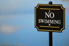 Kein Schwimmenzeichen Lizenzfreie Stockfotos