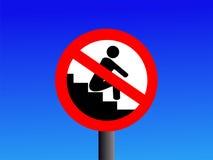 Kein Sitzen auf Jobsteppzeichen Lizenzfreie Stockfotos