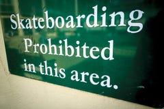Kein Skateboard fahren Stockbild