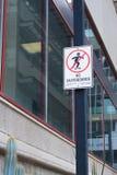 Kein Skateboardzeichen Stockfotografie