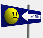 Kein smiley-Spaß-Panel Lizenzfreies Stockbild