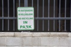 Kein Spaß im Park Lizenzfreie Stockbilder
