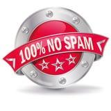 Kein Spam lizenzfreie abbildung