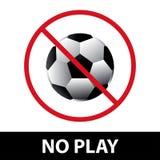 Kein Spiel- oder Fußballzeichen EPS10 Lizenzfreies Stockfoto