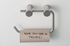 Kein Toilettenpapier lizenzfreie stockbilder