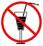 Kein trinkendes Zeichen Stockfoto