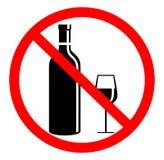 Kein trinkendes Zeichen Stockbild