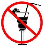 Kein trinkendes Zeichen Stockfotografie