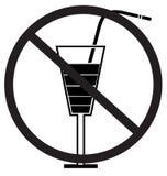 Kein trinkendes Zeichen Stockfotos