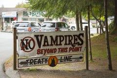 Kein Vampirs-Zeichen Lizenzfreies Stockfoto