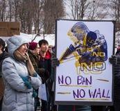 Kein Verbot - Student Protest - RPI - Troja, New York New York lizenzfreie stockbilder