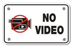 Kein Videorechteckzeichen Stockfotografie