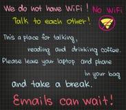Kein WiFi Stockfotos