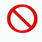 Kein Zeichen lizenzfreies stockfoto