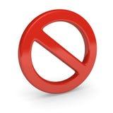Kein Zeichen. 3d übertragen. Lizenzfreies Stockbild