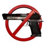 Kein Zeichen der Waffen 3D Stockfotografie