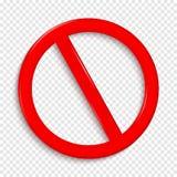 Kein Zeichen Lokalisiert auf transparentem Hintergrund vektor abbildung