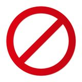 Kein Zugangsbeschränkungszeichen forbiding parkendes usw. vektor abbildung